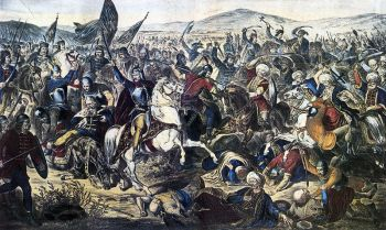 Battle of Kosovo, 1389, by Adam Stefanovic, 1870
