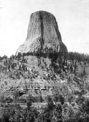 Devil's Tower, c. 1900, US Geological Survey, Photographer: N. Dalton
