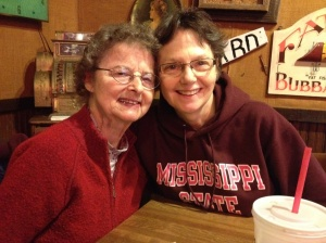 My Valentines: my mom Kay, and my wife Judy