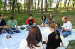 May 9: Discussing Lahiri's Sexy with Mark Lake's students at a local park