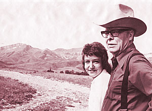 A.B. Guthrie, Jr. and his daughter Gus Miller (Source: Main Hall to Main Street, University of Montana)